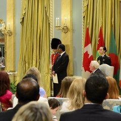 Citation in Honour of H.E. the High Commissioner for Bangladesh before Presentation of Credentials to Governor General of Canada in the Rideau Hall